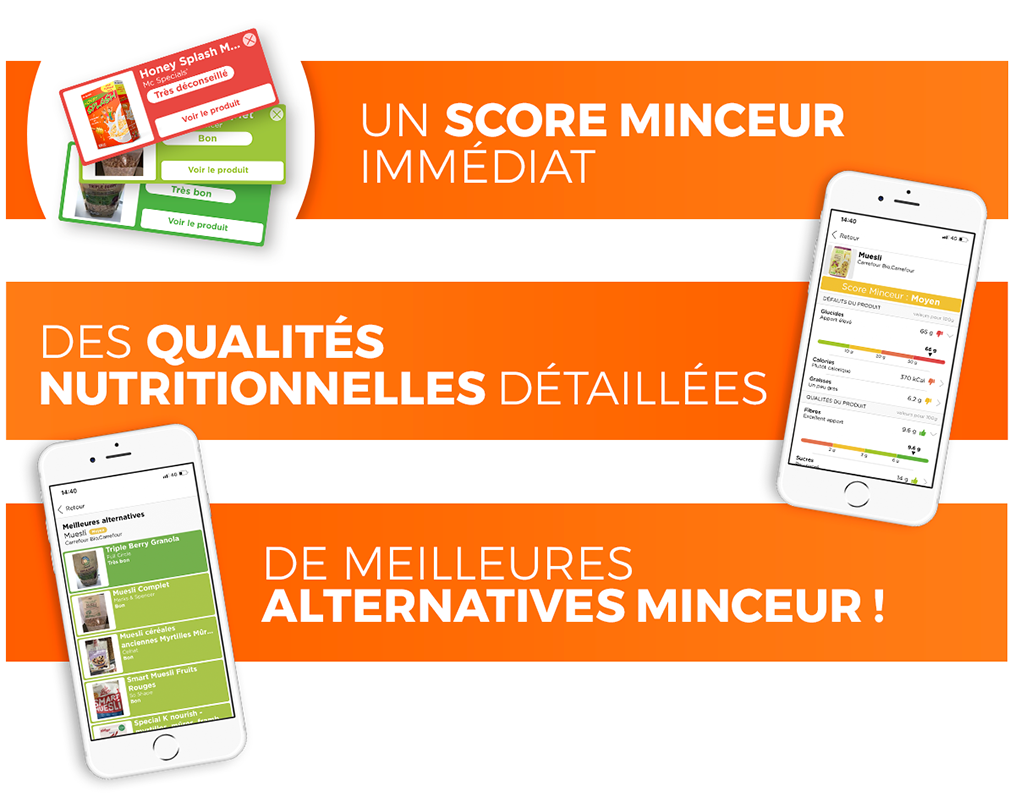 Anaca3 Application mobile Scan minceur