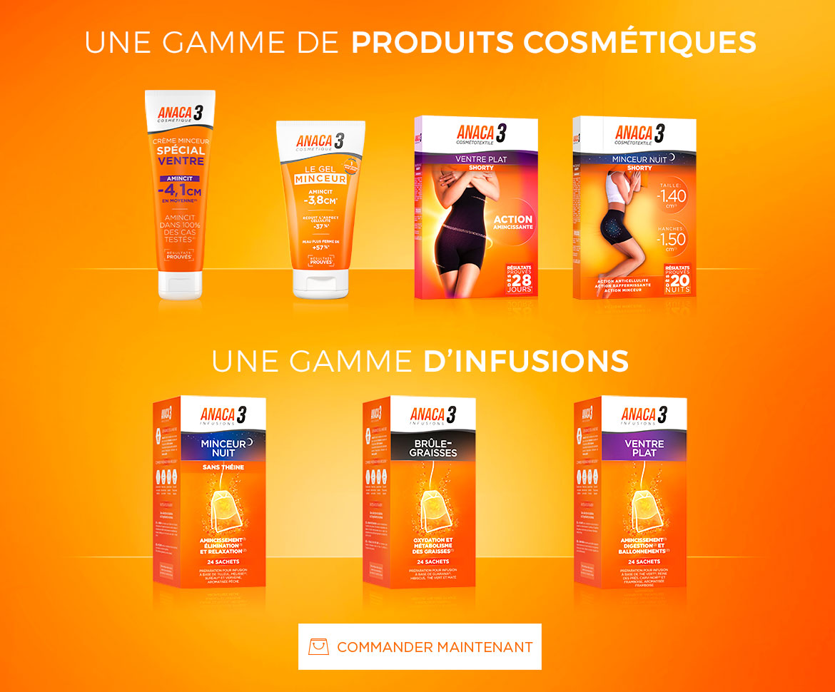 Anaca3 gamme Cosmétiques et Infusions