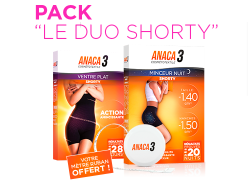Anaca 3 Pack Le Duo Shorty