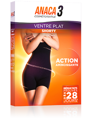 Anaca3 Shorty ventre plat