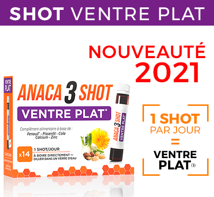 Anaca 3 Shot Ventre plat